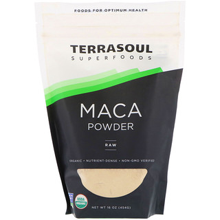 Terrasoul Superfoods, マカパウダー、未加工、16 oz (454 g)