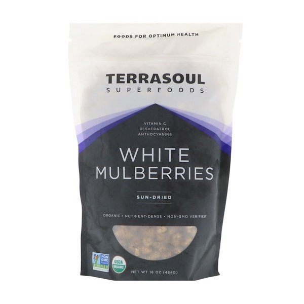 Terrasoul Superfoods, White Mulberries, Sun-Dried, 16 oz (454 g) (Discontinued Item)