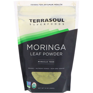 Terrasoul Superfoods, Moringa Leaf Powder, Miracle Tree, 12 oz (340 g)