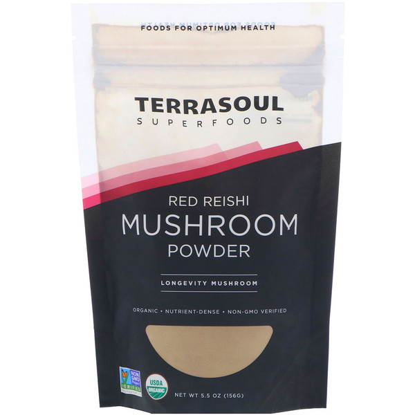 Terrasoul Superfoods, Red Reishi Mushroom Powder, 5.5 oz (156 g)