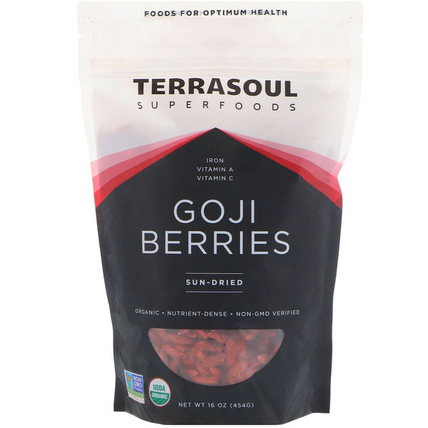 Terrasoul Superfoods, Goji Berries, Sun-Dried, 16 oz (454 g) (Discontinued Item)