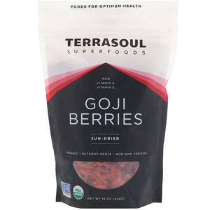 Terrasoul Superfoods, Goji Berries, Sun-Dried, 16 oz (454 g) отзывы