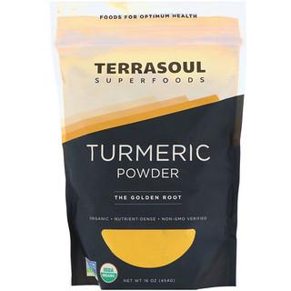 Terrasoul Superfoods, Cúrcuma en polvo, 16 oz (454 g)