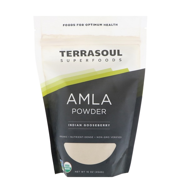 Terrasoul Superfoods, Amla Powder, Indian Gooseberry, 16 oz (454 g) (Discontinued Item)