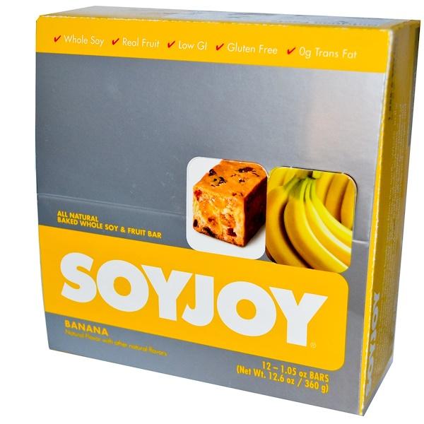 SoyJoy, All Natural Baked Whole Soy & Fruit Bar, Banana, 12 Bars, 1.05 oz (30 g) Each (Discontinued Item)