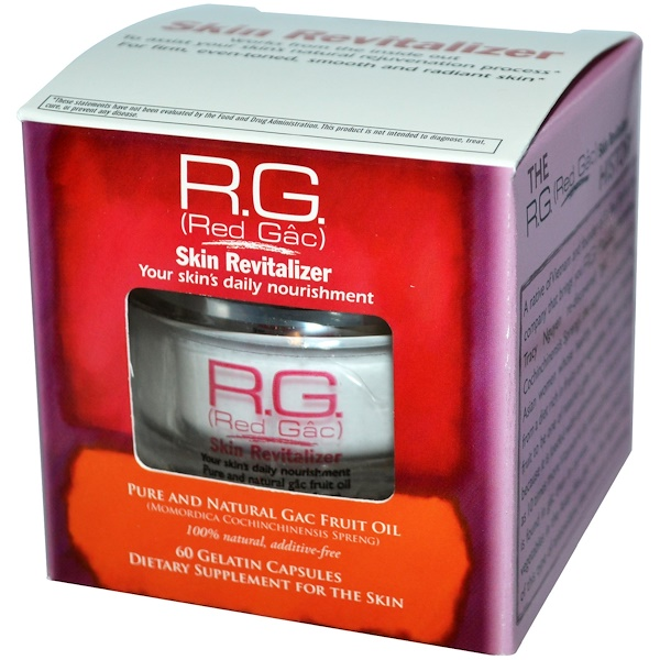 St. Paul Brands, R.G. (Red Gac) Skin Revitalizer, 60 Gelatin Capsules (Discontinued Item)