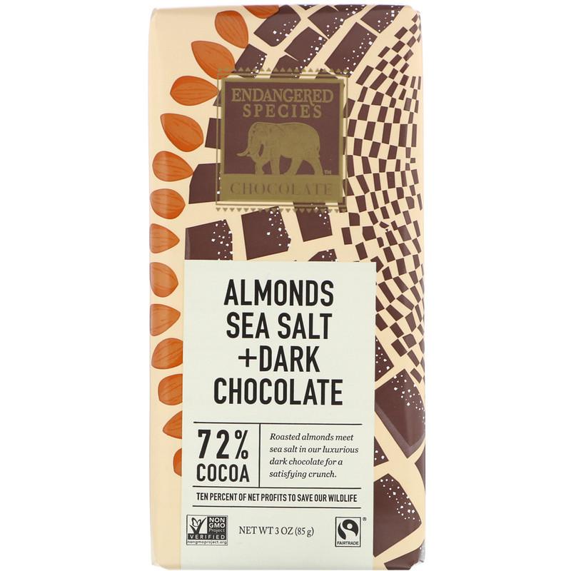 Almonds Sea Salt + Dark Chocolate, 72% Cocoa, 3 oz (85 g)