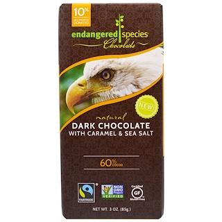 Endangered Species Chocolate, Темный шоколад с карамелью и морской солью, натуральный, 3 унции (85 г)