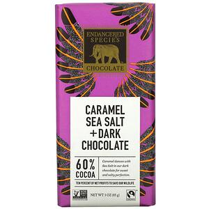 Индэнджэрд Списис Чоколат, Caramel Sea Salt + Dark Chocolate, 60% Cocoa, 3 oz (85 g) отзывы покупателей