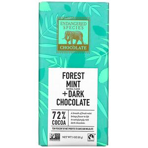 Индэнджэрд Списис Чоколат, Forest Mint + Dark Chocolate, 72% Cocoa, 3 oz (85 g) отзывы покупателей
