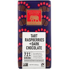 Endangered Species Chocolate, Tart Raspberries + Dark Chocolate Bar, 3 oz (85 g)