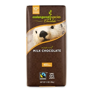 Endangered Species Chocolate, 天然ミルクチョコレート (85 g)
