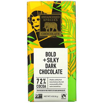 Купить Endangered Species Chocolate Bold + Silky Dark Chocolate, 72% Cocoa, 3 oz (85 g)