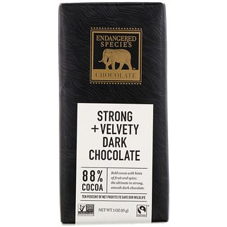 Endangered Species Chocolate, Chocolate oscuro intenso + aterciopelado 3 oz (85 g)
