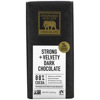 Endangered Species Chocolate, Strong + Velvety Dark Chocolate, 3 oz (85 g)