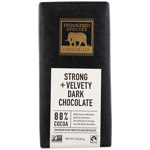 Strong + Velvety Dark Chocolate, 88% Cocoa, 3 oz (85 g)