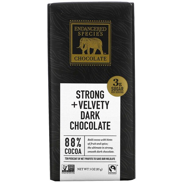 Strong + Velvety Dark Chocolate, 3 oz (85 g)