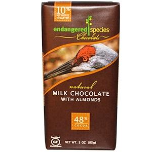 Индэнджэрд Списис Чоколат, Milk Chocolate, with Almonds, 3 oz (85 g) отзывы покупателей