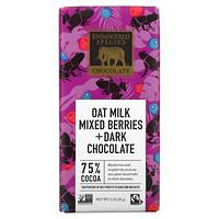 Endangered Species Chocolate, Oat Milk Mixed Berries + Dark Chocolate, 75% Cocoa, 3 oz (85 g)