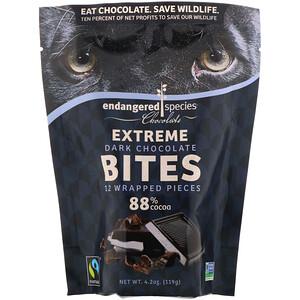 Индэнджэрд Списис Чоколат, Extreme Dark Chocolate Bites, 88% Cocoa, 12 Wrapped Pieces, 4.2 oz (119 g) отзывы покупателей