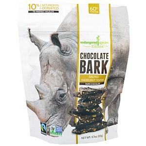 Индэнджэрд Списис Чоколат, Chocolate Bark, Dark Chocolate, Salted Hazelnut Toffee, 4.7 oz (133 g) отзывы