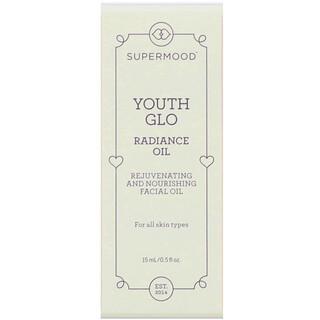 Supermood, ユースグロウ(Youth Glo)、ラディアンスオイル、0.5液量オンス(15ml)