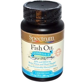 Spectrum Essentials, Fish Oil, Omega-3, 1000 mg, 100 Softgels