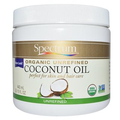 Spectrum Essentials 有機椰子油,未精製,15液盎司(443毫升)