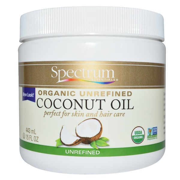Organic Coconut Oil, Unrefined, 15 fl oz (443 ml)