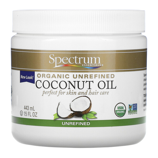 Spectrum Essentials, Organic, Coconut Oil, Unrefined, 15 fl oz (443 ml)