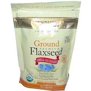 Spectrum Essentials, Organic Ground Premium Flaxseed, 14 oz (396 g)