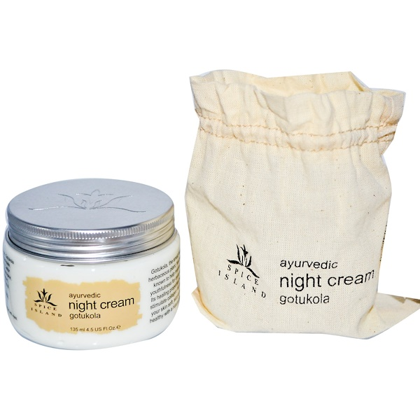Spice Island, Ayurvedic Night Cream, Gotukola, 4.5 fl oz (135 ml) (Discontinued Item)