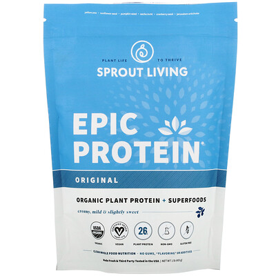 Epic Protein, Organic Plant Protein + Superfoods, Original (Unflavored), 1 lb (455 g)