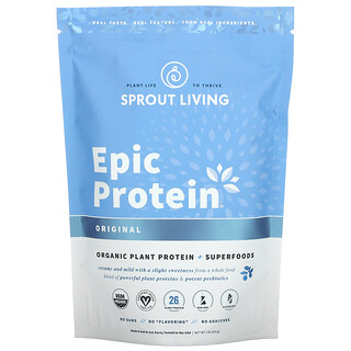 Sprout Living, Epic Protein, Organic Plant Protein + Superfoods, Original, 1 lb (455 g)