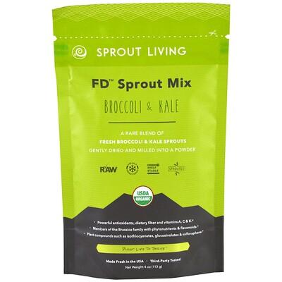 Купить Sprout Living Смесь ростков FD, брокколи и капуста, 4 унции (113 г)