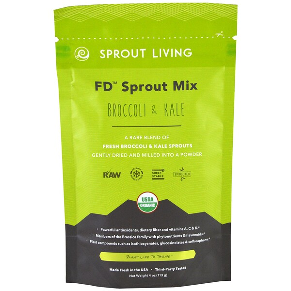 FD Sprout Mix, Broccoli & Kale, 4 oz (113 g)