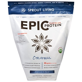 Sprout Living, Epic Protein, Original, 1 kg (1,000 g)