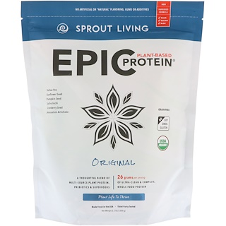 Sprout Living, Epic Plant-Based Protein, Original, 2.2 lb (1,000 g)