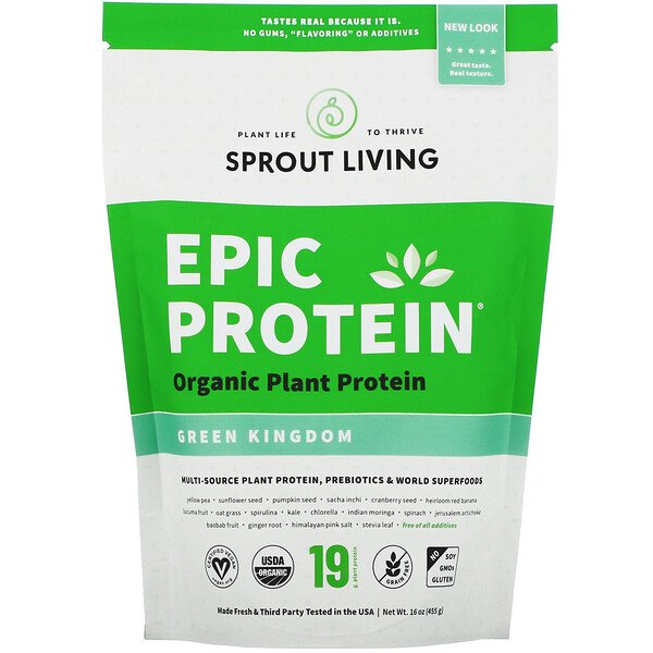 Epic Protein, Organic Plant Protein + Superfoods, Green Kingdom, 16 oz (455 g)