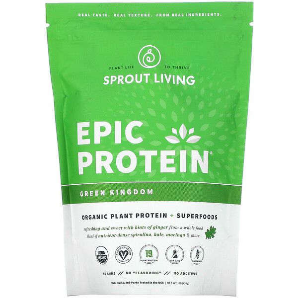 Epic Protein, Organic Plant Protein + Superfoods, Green Kingdom, 1 lb (455 g)