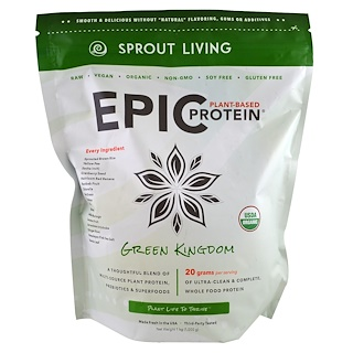 Sprout Living, Epic Protein, Green Kingdom, 1 kg (1,000 g)