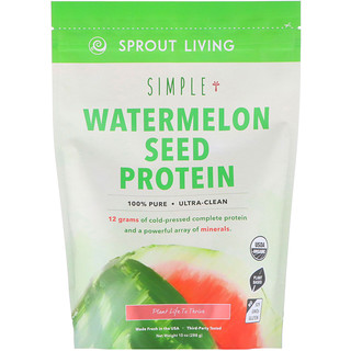 Sprout Living, Simple, Watermelon Seed Protein, 10 oz (288 g)