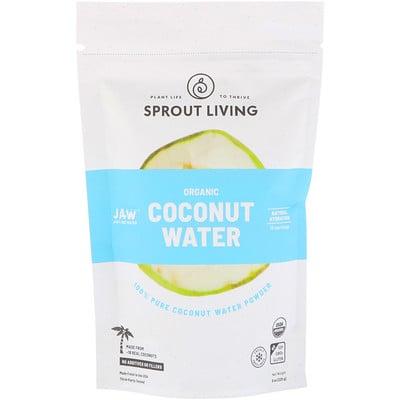 Купить Sprout Living Органический порошок кокосовой воды, 8 унций (225 г)