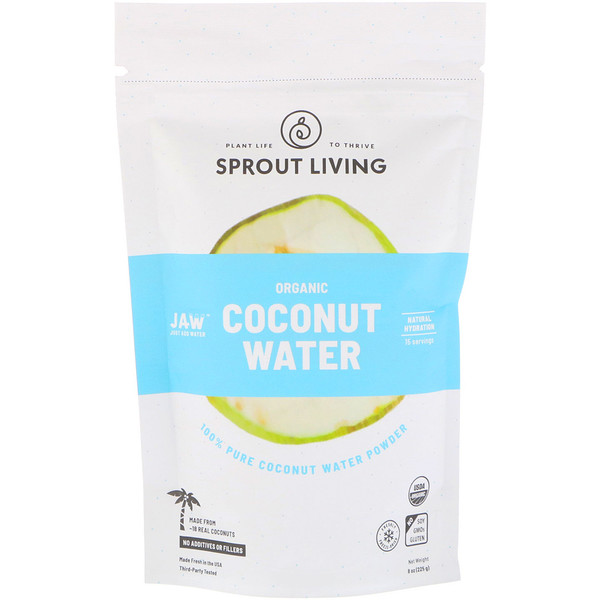 Sprout Living, Organic Coconut Water Powder, 8 oz (225 g)