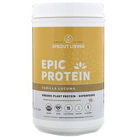 Sprout Living, Epic Protein, Organic Plant Protein + Superfoods, Vanilla Lucuma, 2 lb (910 g)