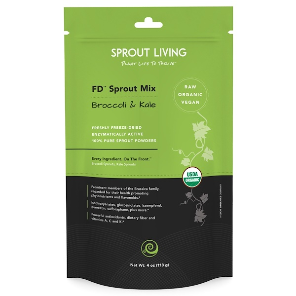 Sprout Living, FDスプラウトミックス(Sprout Mix), ブロッコリー&ケール, 4オンス(113 g) (Discontinued Item)