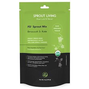 Спроут Ливинг, FD Sprout Mix, Broccoli & Kale, 4 oz (113 g) отзывы