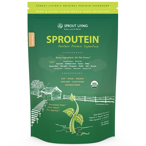 Sprout Living, Sproutein. Perfect Protein Superfood, 1 lb (454 g) (Discontinued Item)