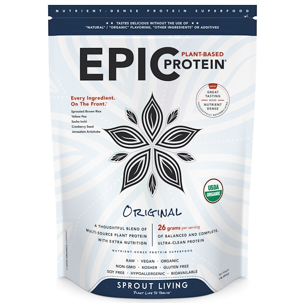 Sprout Living, Epic Protein, Original, 1 lb (454 g) (Discontinued Item)