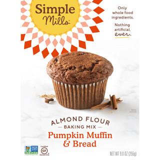 Simple Mills, Naturally Gluten-Free, Almond Flour Mix, Pumpkin Muffin & Bread, 9.0 oz (255 g)